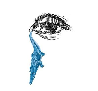 javier jaén #crocodile #spain #tear #eye #illustration #barcelona #jan #metaphor #javier