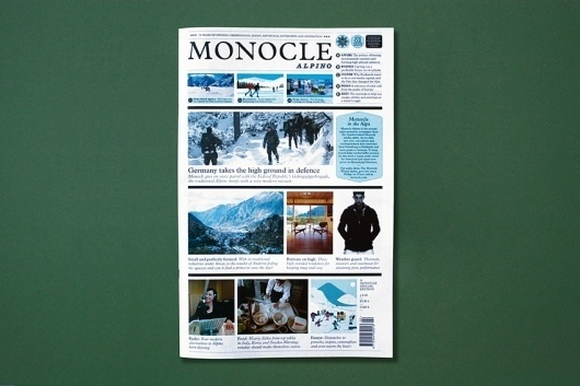 Monocle Alpino #grid #newspaper #monocle #typography