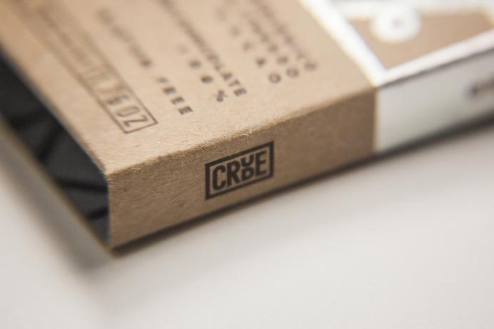 Crude chocolate branding by Happy Centro