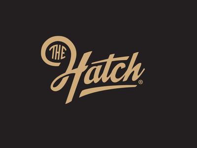 The Hatch #logotype #wordmark #logo #script