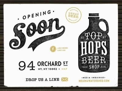 Dribbble - Top Hops - Coming Soon by Renee Fernandez #sign #lettering #script