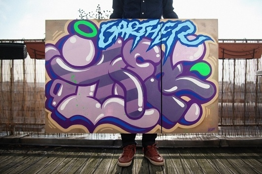 Canvas for my brother Garth | www.ilkflottante.com #type #spray