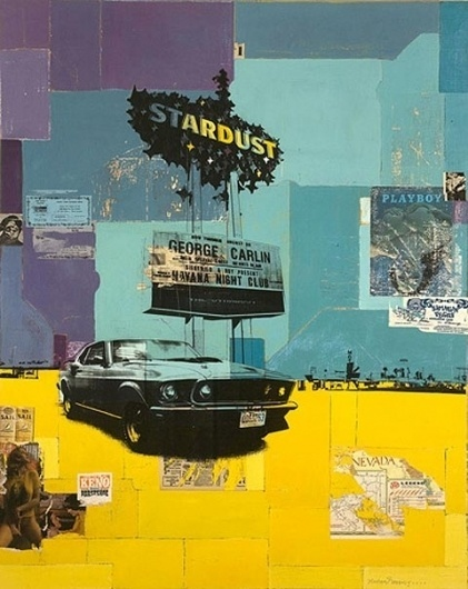 Robert Mars' portrait of old Las Vegas — Lost At E Minor: For creative people #las #collage #vegas #poster