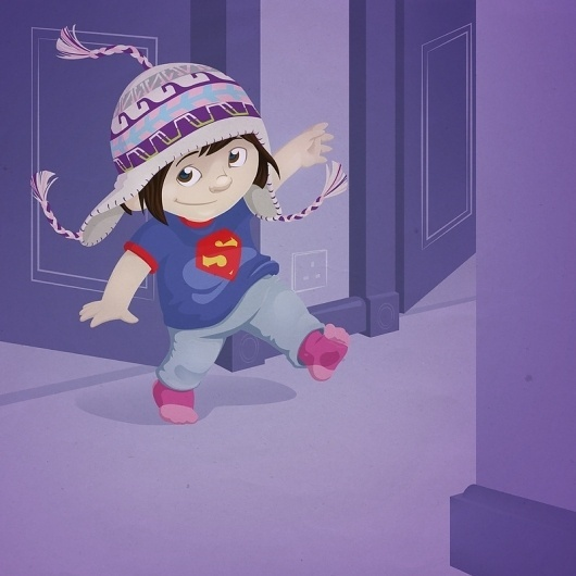 Mummy's hat Art Print by Gareth Axford | Society6 #vector #kid #illustration #purple #cute