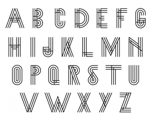 /// on the Behance Network #font #lines #design #graphic #alphabet #typeface #three #abc #typography