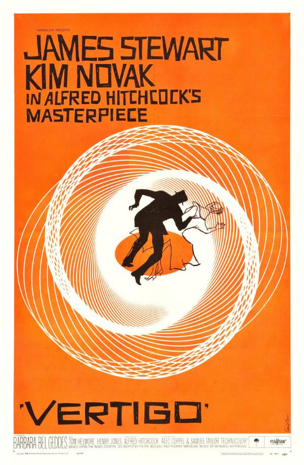 Vertigo film poster vintage orange