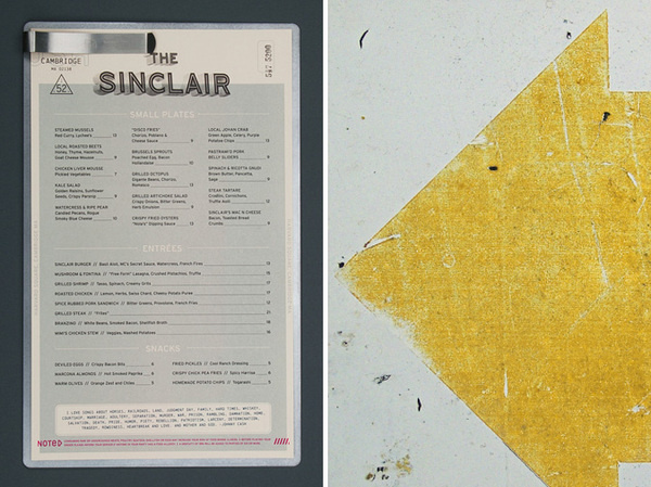 The Sinclair Dinner Menu #identity #sinclair