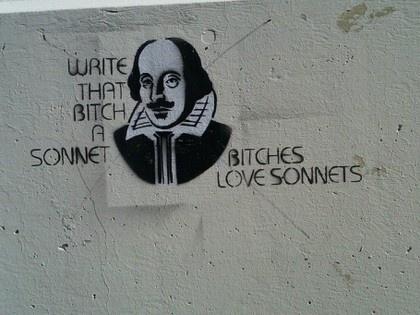 The Triumph of Bullshit #sonnet #graffiti #shakespeare #paint #spray #humor