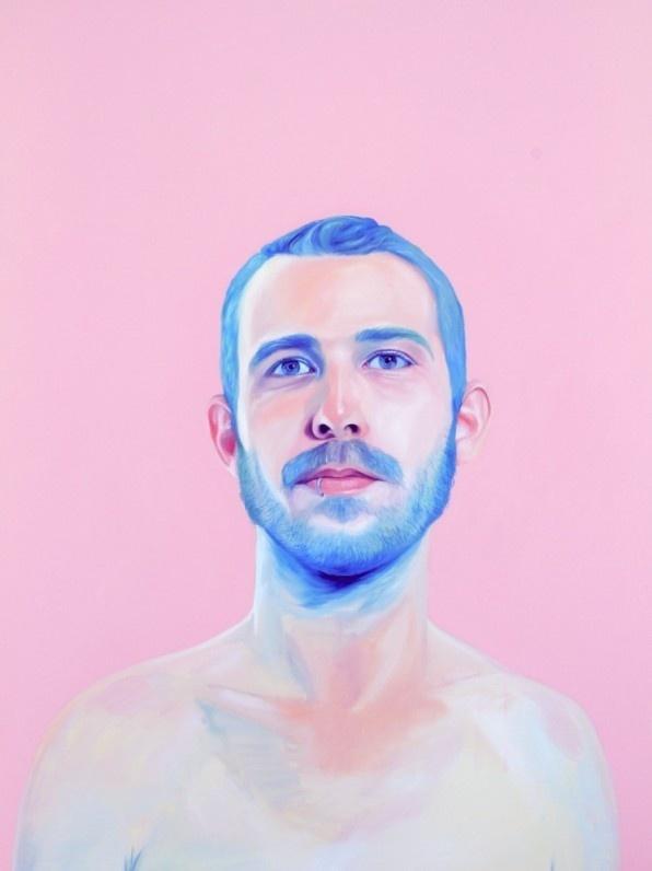 Bubblegum paintings by Jen Mann #people #pink #bubblegum #paint illustration