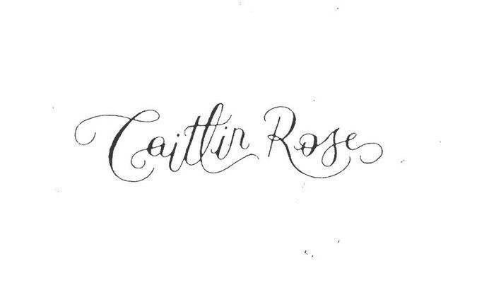 caitlin rose logo type #logo #letter #type #hand