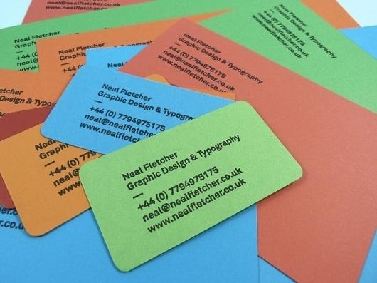 Neal Fletcher — Portfolio #stamp #comp #business #card #slip #fletcher #stationery #letterhead #colour #neal