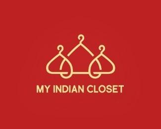 My Indian Closet #icon #logo #color #humor