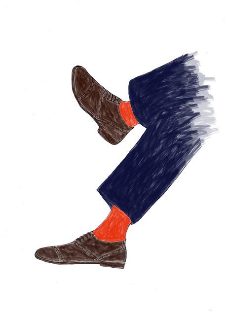 original illustrations for Max (June 2013) #fashion #illustration #men #shoes