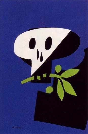 50 Watts #skeleton #modern #war #illustration #peace #poster #anti #skull
