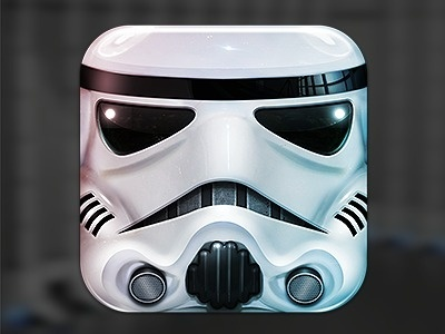 Stormtrooper_dribbble #icon #iphone #application #ipad