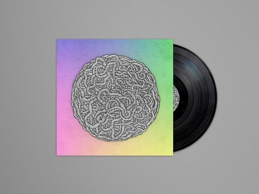 Energeek EP on the Behance Network #cover #illustration #energeek #gradient