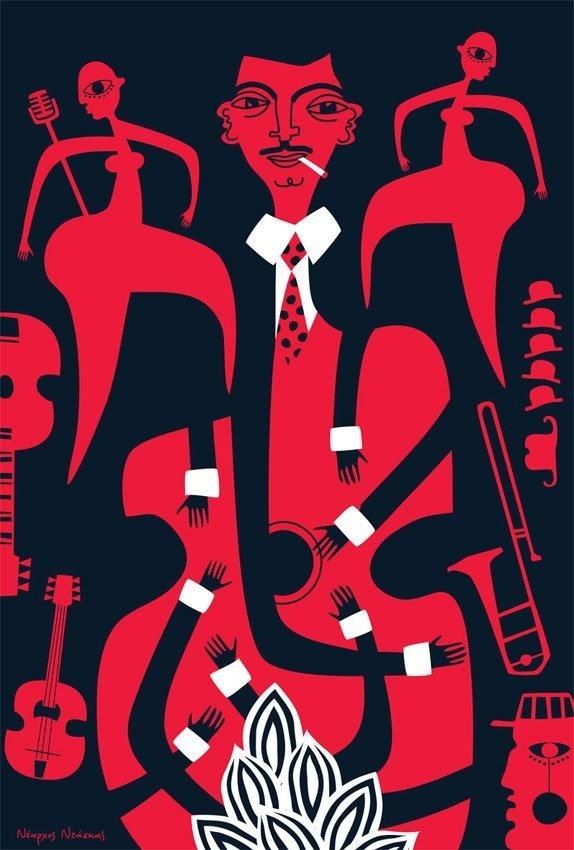 swingjazz #jazz #illustration #hands #music #instruments
