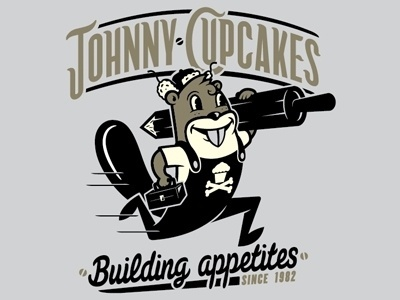 Dribbble - Johnny Cupcakes by Chris DeLorenzo #type #illustration #vector #tshirt