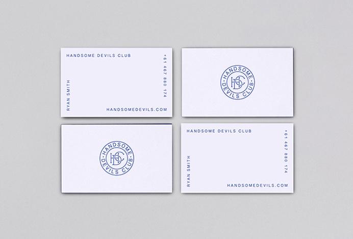 Handsome Devils Club by Taylor Evans #logo #symbol #circle #mark #graphic design #business cards