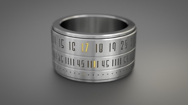 Ring Clock The marriage of the ring and the watch #design #industrial #numbers #clock #ring