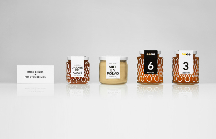 Packaging for traditional crafted honey brand Doce Cielo designed by Anagrama #stuff