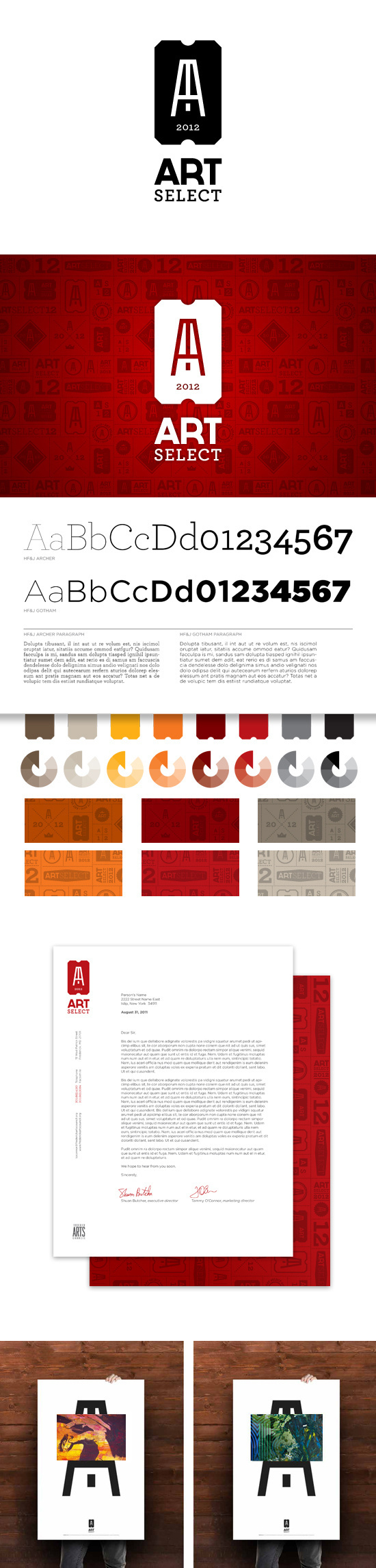 ArtSelect Identity #pattern #business #branding #card #brand #identity #stationery #logo #typography
