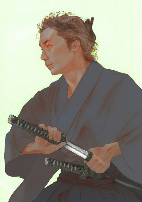 Japanese Illustration: Samurai and Katana. Hiroshi Goto. 2011 #japan
