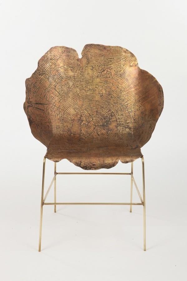 sharon sides: acid etched metal stump #furntiture