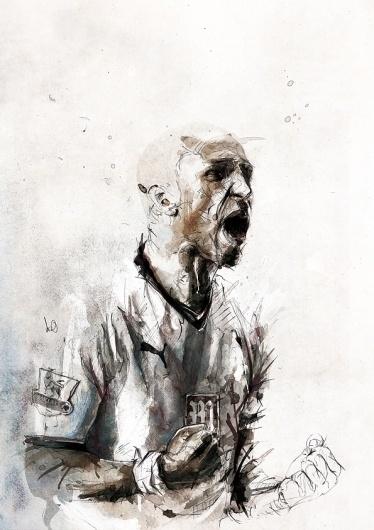 illustrations 2011 on the Behance Network #ink #illustration #sports #pen #pencil