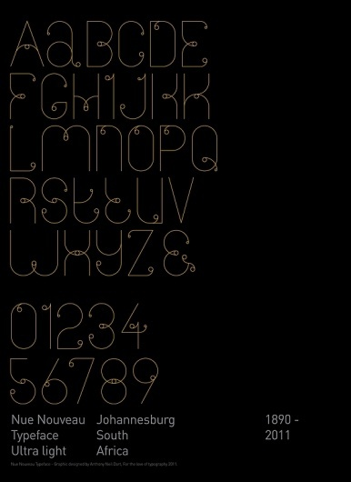 Neu Nouveau Typeface on the Behance Network #typography