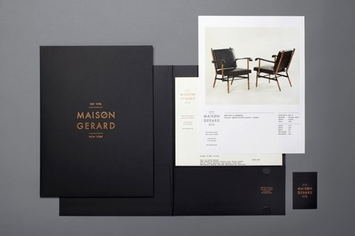 Design Work Life » cataloging inspiration daily #maison #black #identity #poster #gold #type #layout #gerard #trees