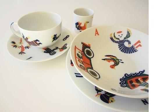 sargadelos #plate #tableware #illustration #kids #cup