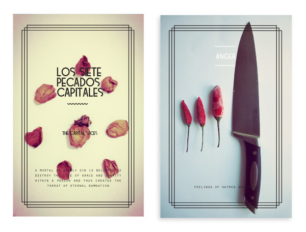 Friday, October 19, 2012 #chilli #design #graphic #playing #deadly #photography #sins #art #seven #knife #cards