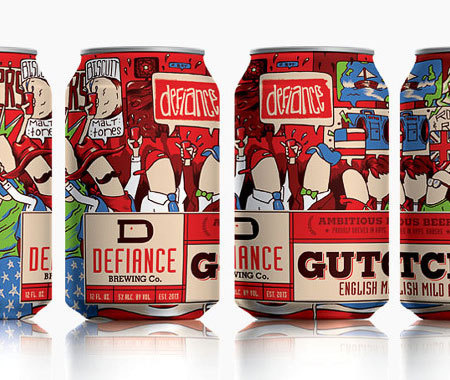 Defiance Brewery Gutch Cans #packaging #beer