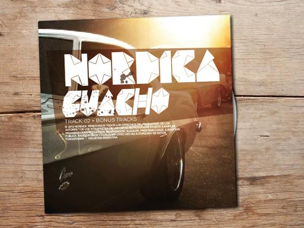 nordica: no me importa on Behance #pop #rock #cover #art #music #typo