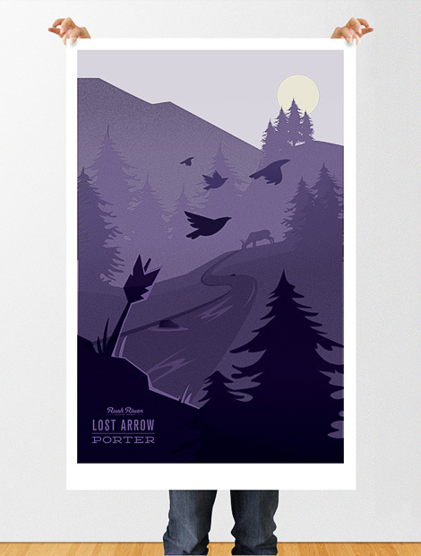Rush River Lost Arrow Poster #beer #poster