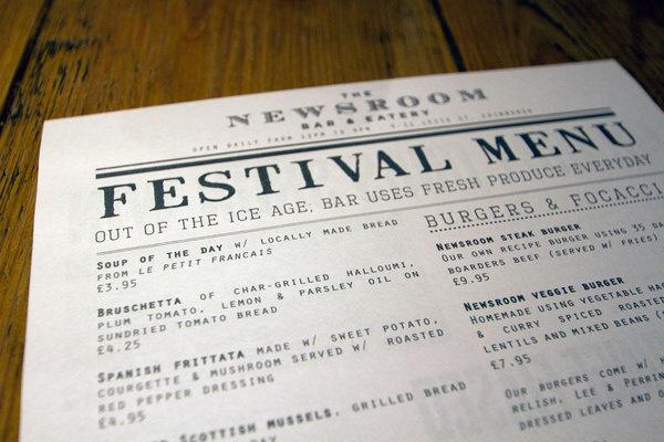 News Room #newsprint #news #white #broadsheet #print #design #article #newspaper #black #restaurant #satire #menu #cookie #headline #edinburgh #and #monster #columns #room