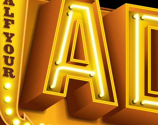Adobe Myths on Behance #neon