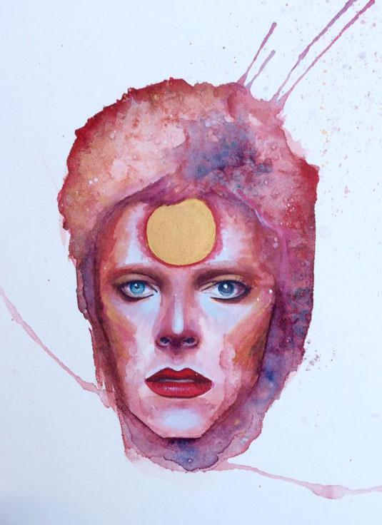Bowie - Ziggy Stardust - Illustration - Kelly McKernan Cavanah