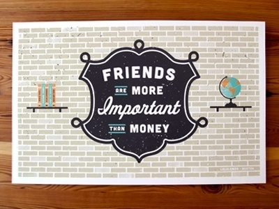 Dribbble - Lululemon print version of wall design by JP Boneyard #brick #illustration #texture