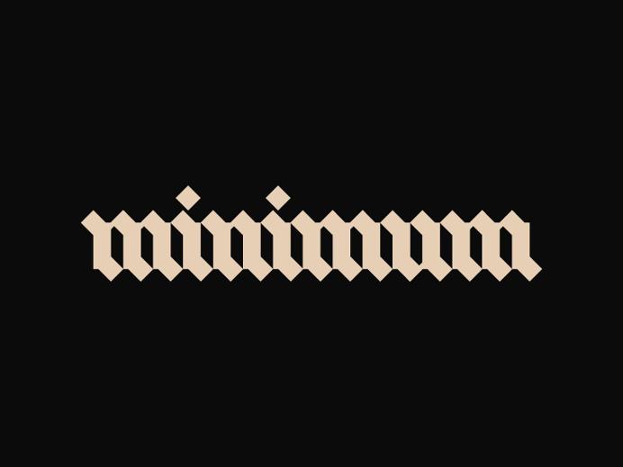 Minimum | Cool Typography Work
