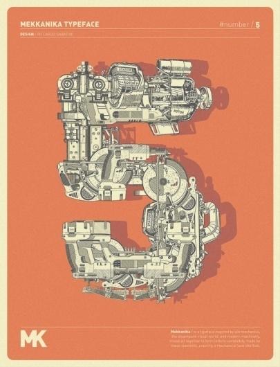 Riccardo Sabatini: Mekkanika Experimental Typeface | Tundra Blog #typography