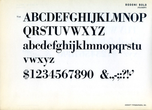 This Bodoni Bold was designed by M. F. Benton and released ca. 1910. #typography