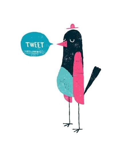 Hello : Ben Javens #bird #illustration #twitter #javens #tweet #ben