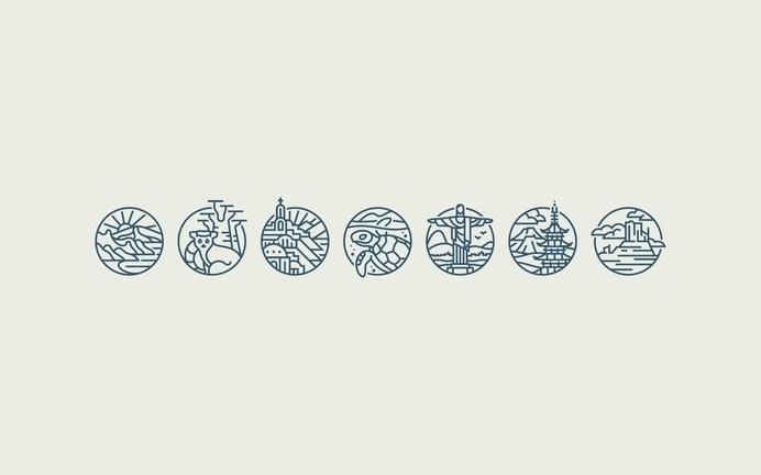 12 Days of Adventure - Daniel Führer Design #icon #travel #picto #adventure #symbol #line