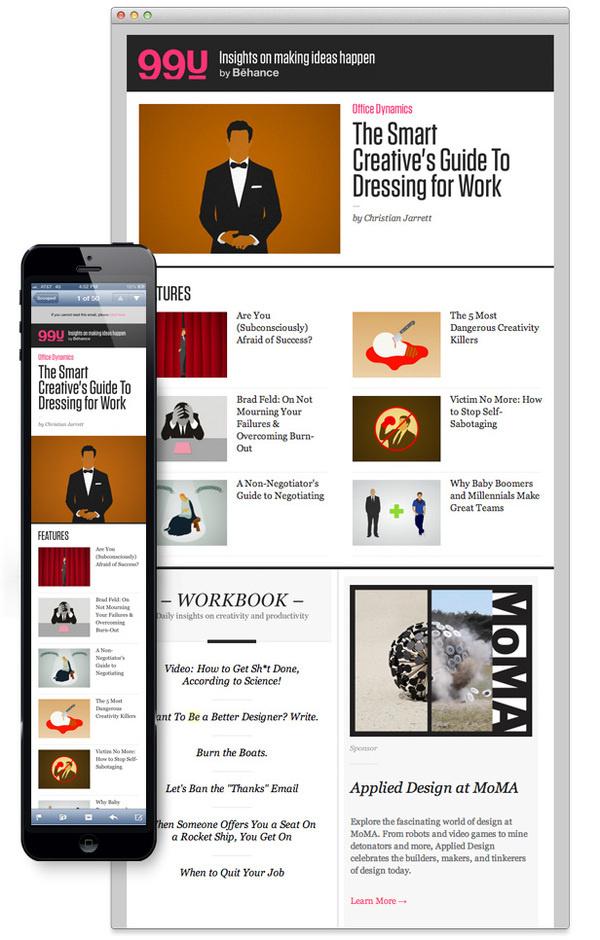 behance #responsive #email #newsletter