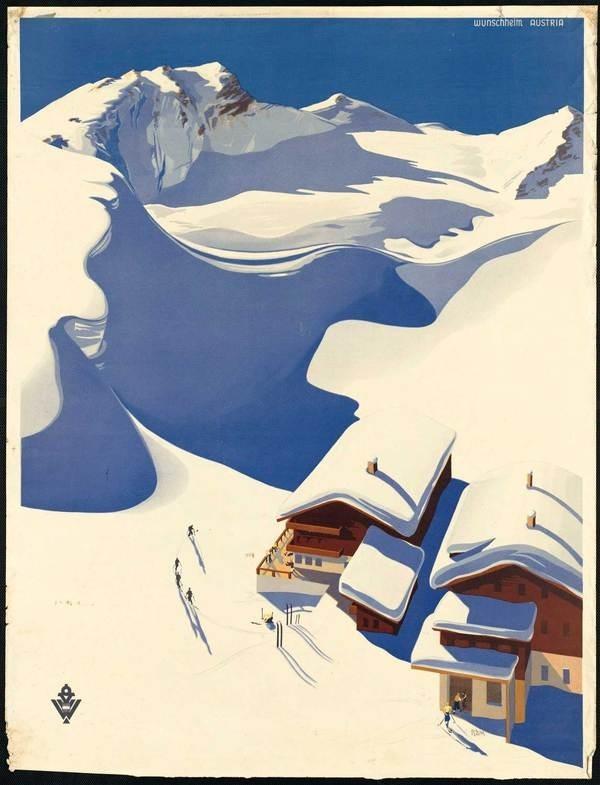 Austria #austria #travel #snow #illustration #poster