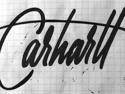 Carhartt #lettering #hand #typography