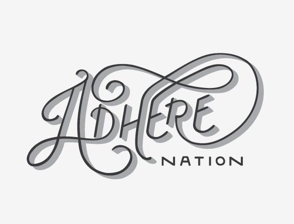 Adhere_nation_logo #logo #lettering