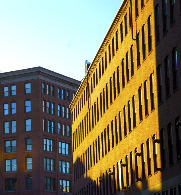 Photography #urban #boston #city #yellow #color #warehouse #buildings